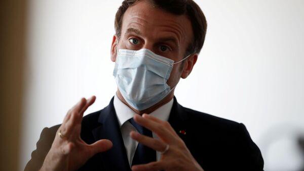 Prezydent Francji Emmanuel Macron - Sputnik Polska