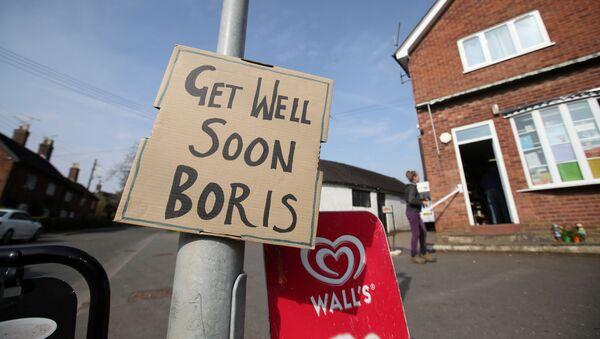 Życzenia powrotu do zdrowia dla Borisa Johnsona - Sputnik Polska