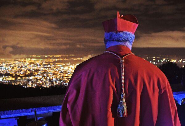 Arcybiskup brazylijski patrzy na miasto po mszy wielkanocnej w Rio de Janeiro - Sputnik Polska