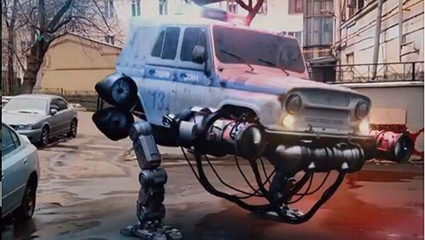 Kadr z futurystycznego filmu studia Knife Studio - Sputnik Polska