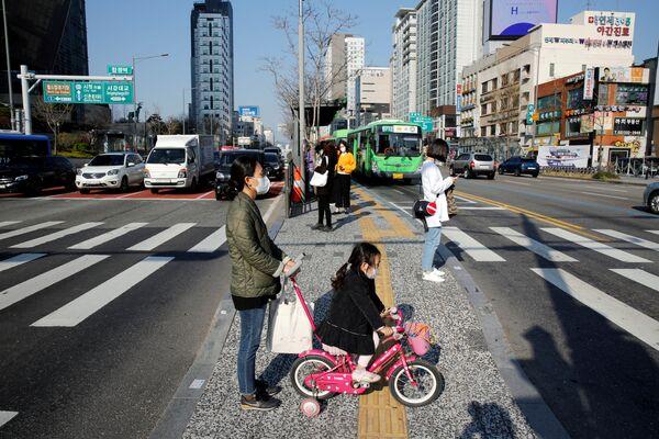Sytuacja na ulicy w Korei Południowej - Sputnik Polska