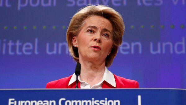 Przewodnicząca Komisji Europejskiej Ursula Gertrud von der Leyen - Sputnik Polska