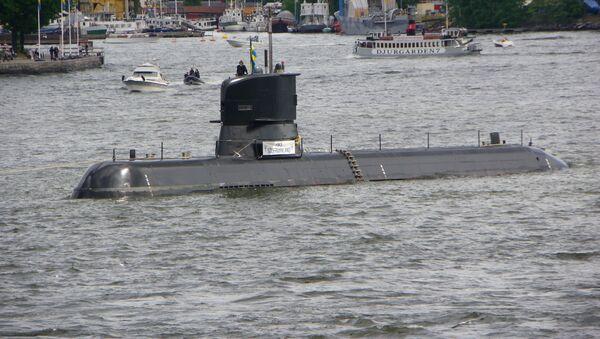 Szwedzki okręt podwodny Södermanland w Sztokholmie - Sputnik Polska