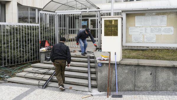 Gmach ambasady Rosji w Pradze. - Sputnik Polska