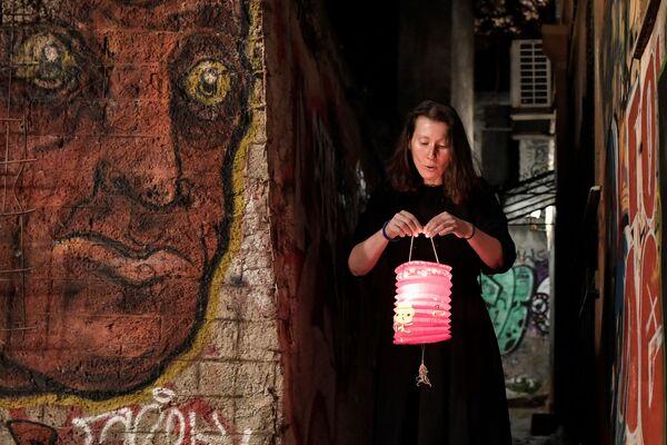 Kobieta ze Świętym Ogniem w Atenach - Sputnik Polska