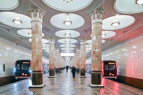 """Stacja moskiewskiego metra """"Kijewskaja"""" - Sputnik Polska"""