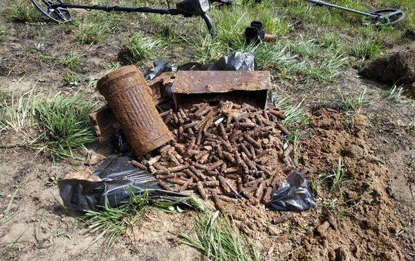 Odkrycie szczątków niemieckiego żołnierza w Obwodzie Kaliningradzkim - Sputnik Polska