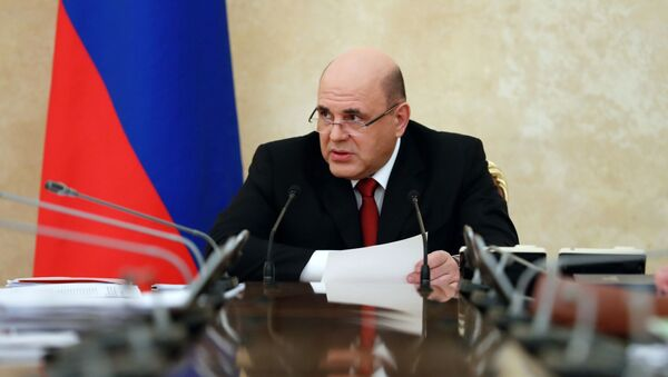 Premier Federacji Rosyjskiej Michaił Miszustin na posiedzeniu Rady Koordynacyjnej ds. walki z koronawirusem - Sputnik Polska