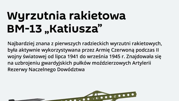 """Wyrzutnia rakietowa BM-13 """"Katiusza"""" - Sputnik Polska"""