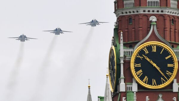 Su-24 podczas próby Parady Zwycięstwa w Moskwie - Sputnik Polska