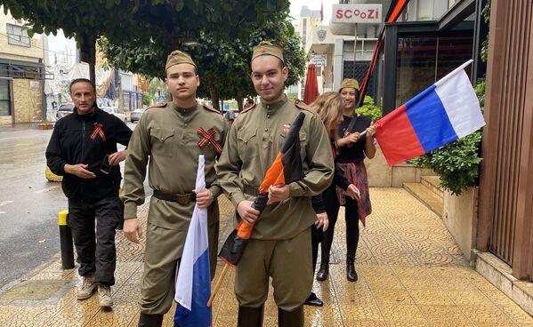 Akcja pod budynkiem Rosyjskiego centrum nauki i kultury w Bejrucie - Sputnik Polska