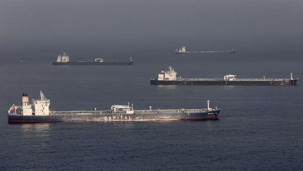 Tankowce ropy naftowej u wybrzeży Kalifornii - Sputnik Polska