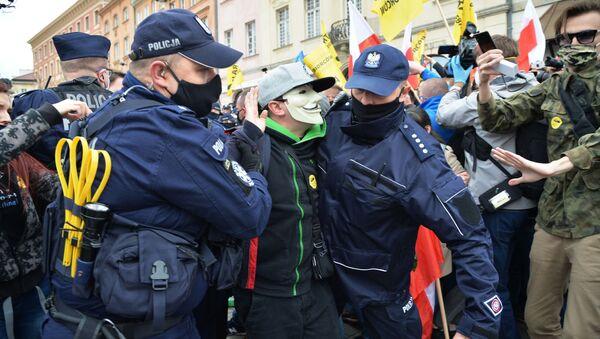 Protesty przedsiębiorców w Warszawie - Sputnik Polska