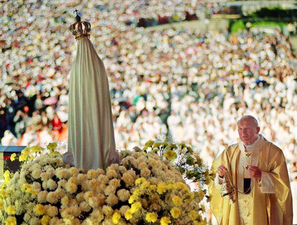 Jan Paweł II w Portugalii w 1991 roku - Sputnik Polska