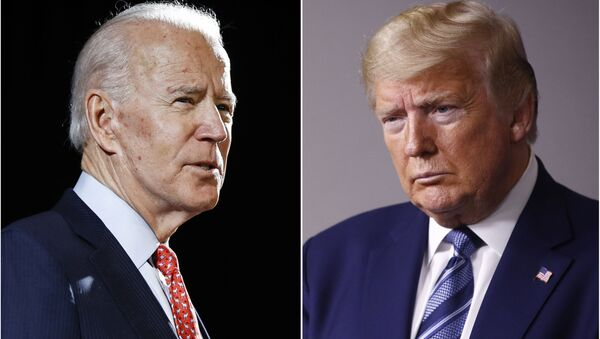 Były wiceprezydent USA Joe Biden i prezydent USA Donald Trump - Sputnik Polska