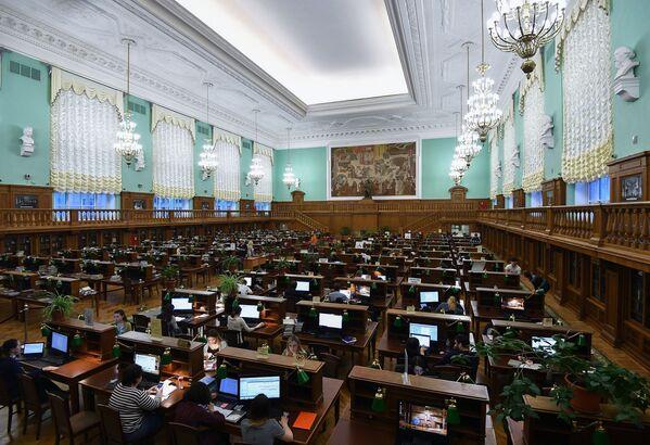 Czytelnia w Rosyjskiej Bibliotece Państwowej w Moskwie - Sputnik Polska