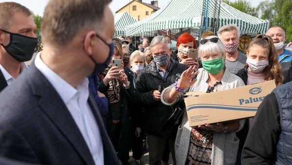 Prezydent Andrzej Duda w Gawrolinie - Sputnik Polska