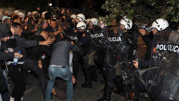 Protesty w Czarnogórze - Sputnik Polska
