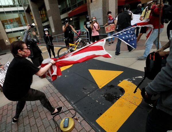 Protesty w Północnej Karolinie  - Sputnik Polska