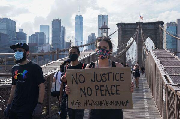 Protesty w Nowym Jorku - Sputnik Polska