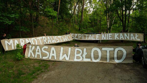 Aktywiści z Obozu dla Mierzei Wiślanej - Sputnik Polska