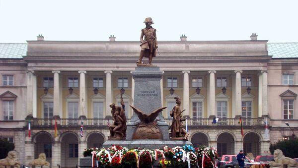 Pomnik Tadeusza Kościuszki w Warszawie - Sputnik Polska