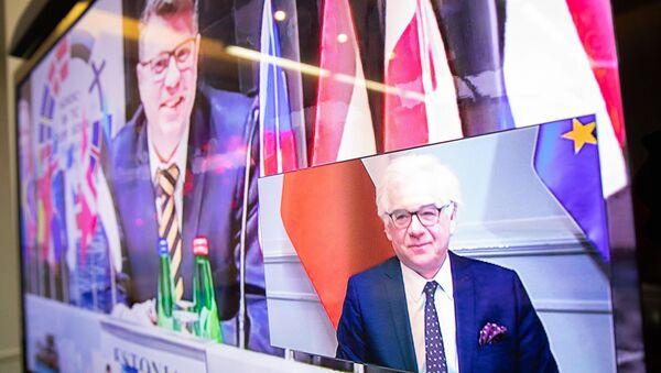 Wideokonferencja ministrów spraw zagranicznychGrupy Wyszehradzkiej - Sputnik Polska