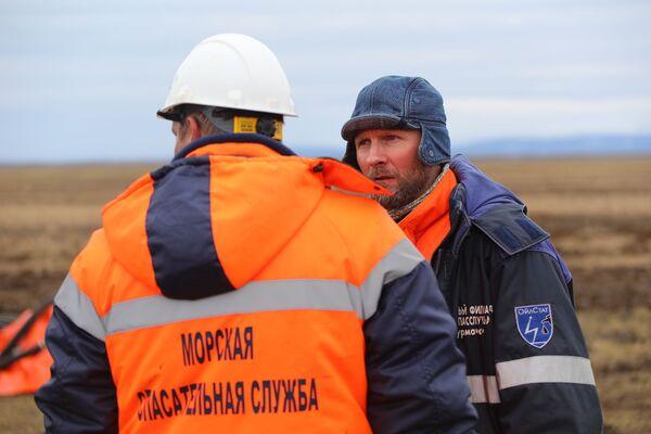 Likwidacja wycieku oleju napędowego pod Norylskiem - Sputnik Polska