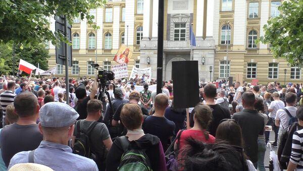 Demonstracja przeciwko przymusowi szczepień - Sputnik Polska
