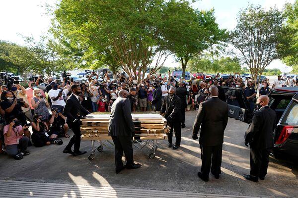 Dziś pogrzeb George'a Floyda w Houston, USA - Sputnik Polska