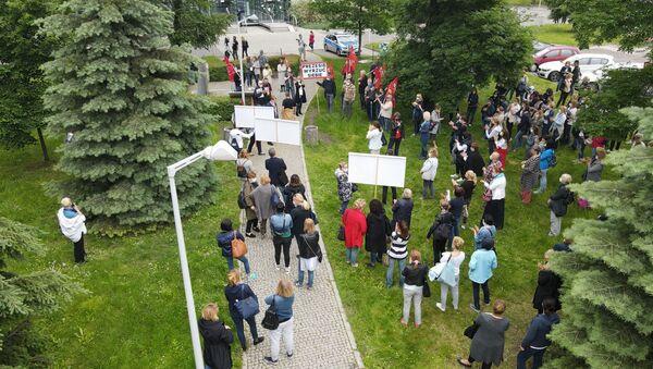 Demonstracja pod siedzibą LOT-u - Sputnik Polska