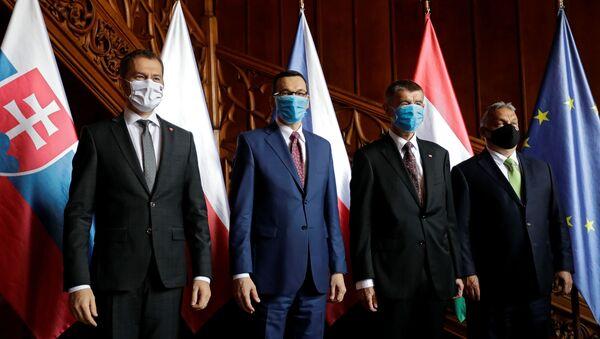 Spotkanie szefów rządów V4 - Sputnik Polska