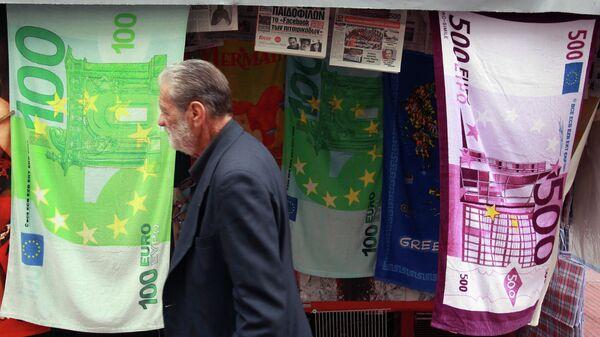 Ręczniki z ilustracjami banknotów euro - Sputnik Polska