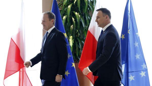 Prezydent Andrzej Duda i przewodniczący EPL Donald Tusk - Sputnik Polska