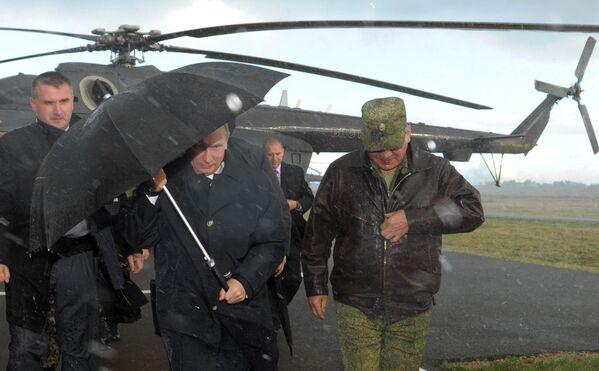 Władimir Putin na poligonie w obwodzie kaliningradzkim, 2013 rok - Sputnik Polska