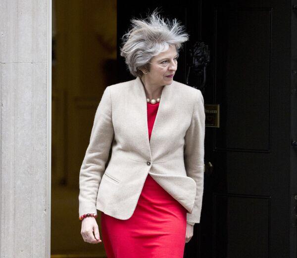 Premier Wielkiej Brytanii Theresa May w Londynie, 2017 rok - Sputnik Polska