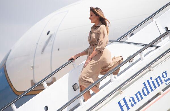 Pierwsza dama USA Melania Trump przybywająca do Malawi, 2018 rok  - Sputnik Polska