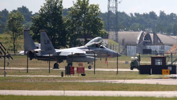 Eagle F-15C w bazie Lakenheath  - Sputnik Polska