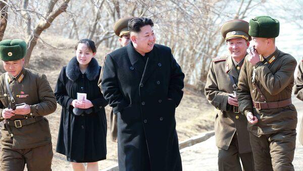Kim Dzong Un i jego siostra Kim Jo Dzong - Sputnik Polska