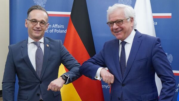 Szef niemieckiej dyplomacji Heiko Maas i minister spraw zagranicznych Polski Jacek Czaputowicz - Sputnik Polska