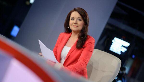 Polska dziennikarka i prezenterka telewizyjna Danuta Holecka - Sputnik Polska