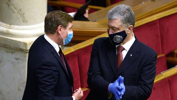 Były prezydent Ukrainy, deputowany do Rady Najwyższej Petro Poroszenko - Sputnik Polska