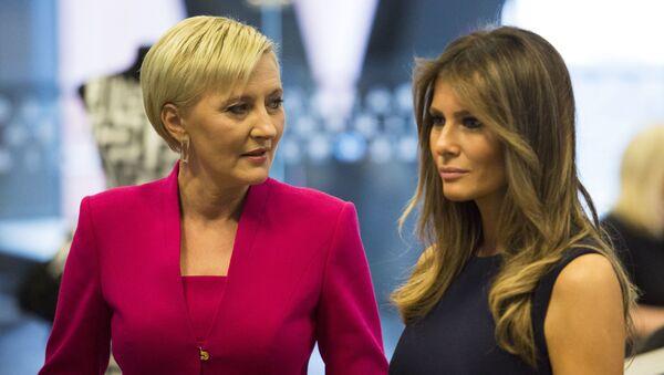 Melania Trump i Agata Kornhauser-Duda - Sputnik Polska