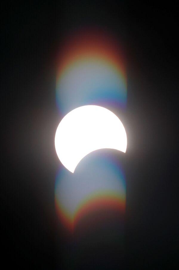 Сzęściowe zaćmienie Słońca w Egipcie - Sputnik Polska
