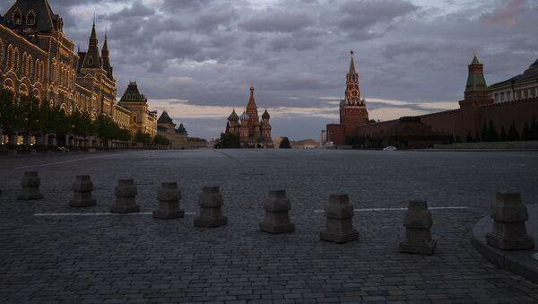 Plac Czerwony w Moskwie w czasie samoizolacji mieszkańców - Sputnik Polska