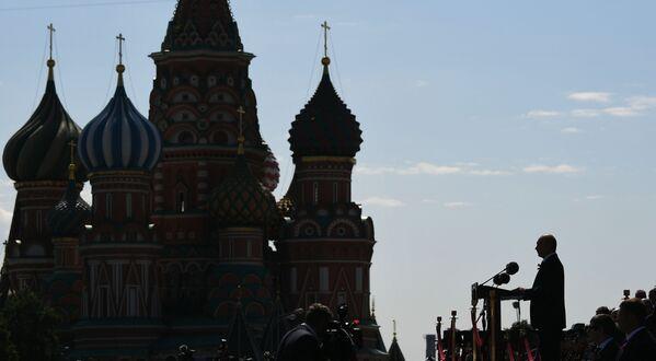 Władimir Putin na Defiladzie Zwycięstwa 2020 w Moskwie - Sputnik Polska