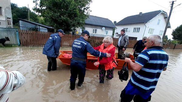 Powódź na Ukrainie. - Sputnik Polska