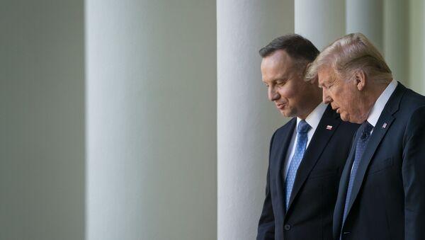 Spotkanie prezydenta Andrzeja Dudy i prezydenta Donalda Trumpa w Waszyngtonie - Sputnik Polska
