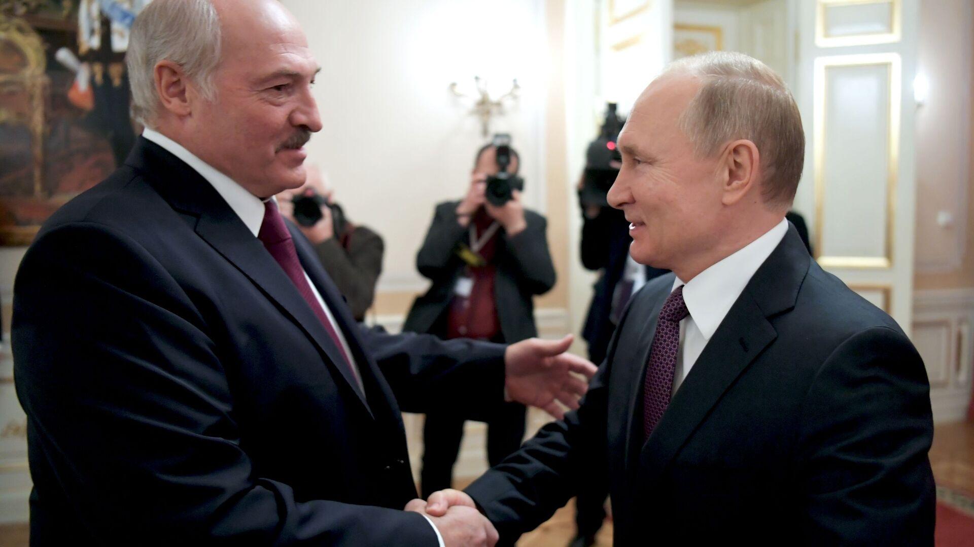 Prezydent Białorusi  Alaksandr Łukaszenka i prezydent Rosji Władimir Putin - Sputnik Polska, 1920, 25.09.2021