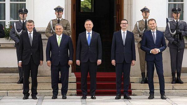 Szczyt V4 w Warszawie - Sputnik Polska